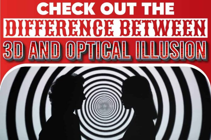 Check Out The Difference Between 3D And Optical Illusion..